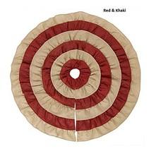 Embroidered Plaid Plush Christmas Tree Skirt Base Floor Mat Cover TkLink... - $51.48