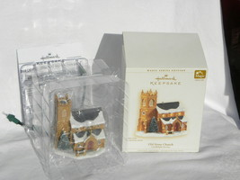 2006 Hallmark Candlelight Services Old Stone Church Lighted Christmas Or... - $14.99