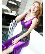 88F072 charming temptation ballgown, flowers embroidery,,size s-2xl, violet - $38.99
