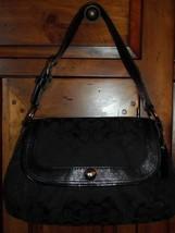 Coach Black Soho Signature Pleated Flap Bag 13739 - $40.50