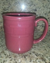 "Longaberger  Pottery Woven Traditions  Saffron Red  4"" Coffee Cup Mug EUC #01. - $14.99"