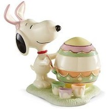 Lenox Peanuts Snoopy Easter Figurine Artist Painting Egg For You Bunny E... - $87.20