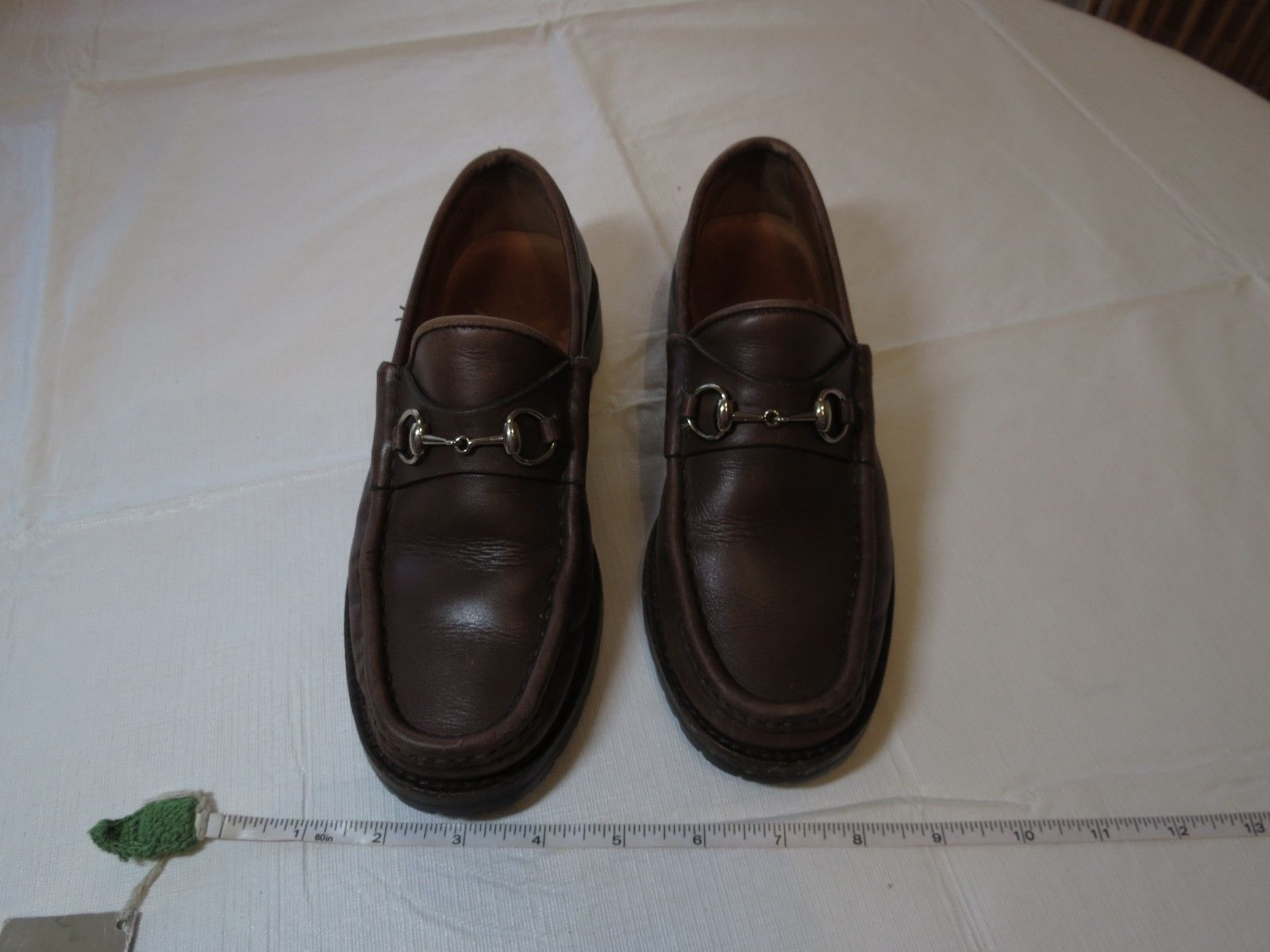 03ed4111f7264 Gucci shoes leather 6 1 2 B loafers horsebit and 50 similar items