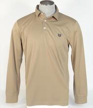 Chaps Performance Stay Dry Khaki Long Sleeve Polo Shirt Mens NWT - $41.24