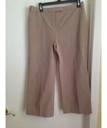 Alfani Cotton Stretch Khaki Straight Leg Pants with Detail Stitching Pet... - $13.55