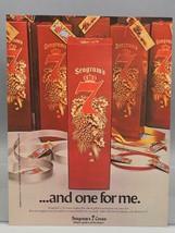 Vintage Rivista ad Stampa Design Pubblicità Seagrams 7 Corona Whisky - $27.96
