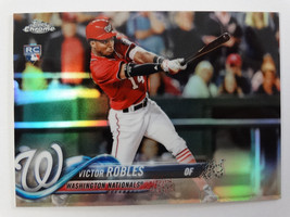 2018 Topps Chrome #175 Victor Robles Nationals Refractor Baseball Card - $25.00