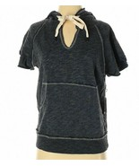 NWT $143 NSF Jezebel Hoodie Sweatshirt - Short Sleeve Wharf Blue sz P / XS - $57.24