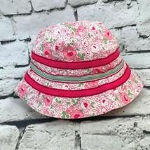 0af04fa2084da Baby Gap Toddler Sz M-L 2-5Yrs Bucket Hat Pink Floral Summer Sun Cap -