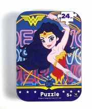 Wonder Woman mini puzzle in collector tin 24 pcs New Sealed - $3.47