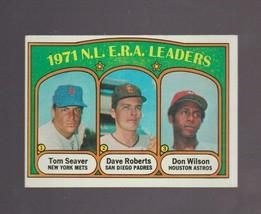 1972 Topps # 91 N.L. ERA Leaders EX-MINT - $2.50