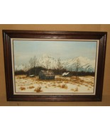 Original Vintage Painting Framed 36in x 24in Gronewald Landscape Oil on ... - $131.81