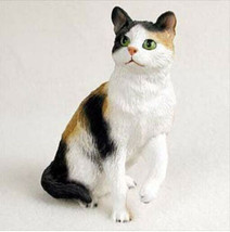 SHORTHAIRED CALICO CAT Figurine Statue Hand Painted Resin Gift - £16.05 GBP