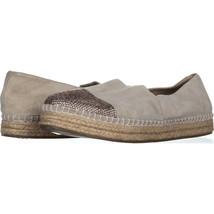 Steve Madden Pulse Sparkle Toe Espadrille Flats 592, Taupe, 10 US - $31.38