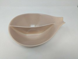 Monterey California Pottery Mid Century Modern Speckled Divided Serving Bowl VTG - $39.59