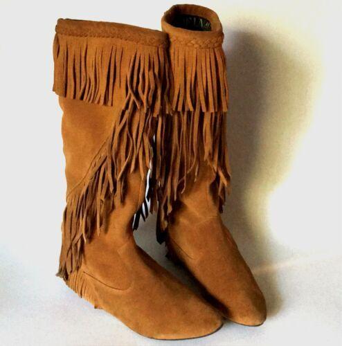 13eda8861 Sam Edelman sz 9 Utah Suede Fringe Boots and similar items. 12