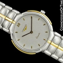 1989LONGINES Flagship Mens Classic Ss Steel & 18K Gold Watch - Mint With Papers - $926.10