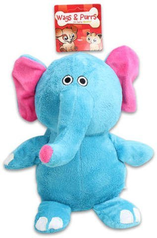 "10"" Plush Elephant Squeaker Pet Toy (Pack Of 24)"