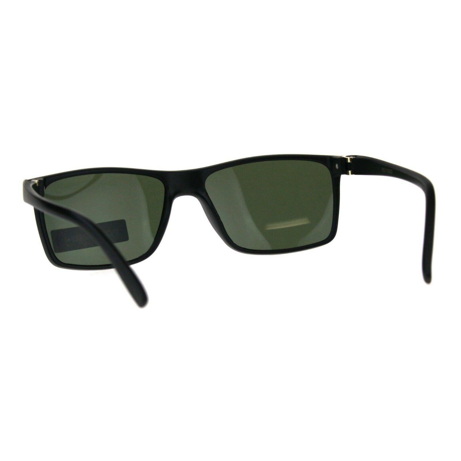 Polarized Lens Sunglasses Unisex Fashion Classic Rectangular Frame
