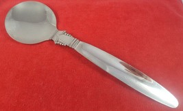 Large Salad Serving Spoon by English Silver Mfg. Mid Century Modern Silv... - $12.86
