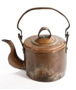 Vintage Solid Distressed Copper Teapot Kettle Removable Lid Fancy Spout - $29.14