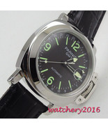 2018 New Arrival 44mm Parnis black dial luminous markers Stainless steel... - $133.62