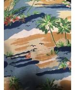Grandmas EsTate  Hawaiian Tropical Palm Trees Fabric Pictorial Fabric 1.... - $14.85