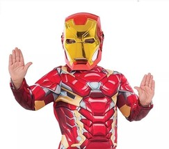 New Iron Man Boys Deluxe Costume Top Set Size 4-6 - $519,15 MXN