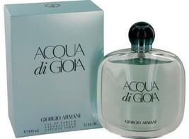 Giorgio Armani Acqua Di Gioia 3.4 Oz for Women Eau de Pafum Spray in Sea... - $74.99