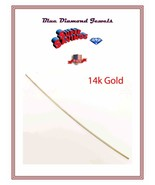 "12""-14k Solid Yellow Gold .030 Half Hard Round Wire Repairs-Findings 2.4gr. - $108.00"