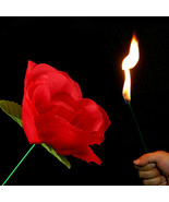 NEW Stage Close Up Magic Trick Torch Rose to Fire Tricks Flame Appearing... - $9.70