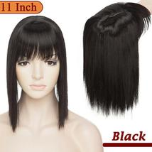 NEW 11'' Lady Hair Topper Real One Piece Full Head Clip In Hair Extension image 13