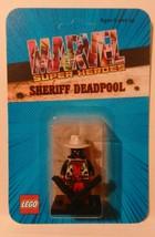 Custom Marvel Sdcc 2017 Sheriff Deadpool Lego Card Back And Minifigure - $12.00