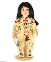 Signed Buffalo Child Porcelain Doll Carol Theroux Artist's Limited Editi... - $54.50