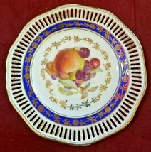 "Vintage Winterling Germany Decorative Lace Edge Fruit Motif Design 7 1/2"" Plate - $14.99"