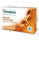 1x Himalaya Herbals Almond & Rose Soap 75g - $5.77