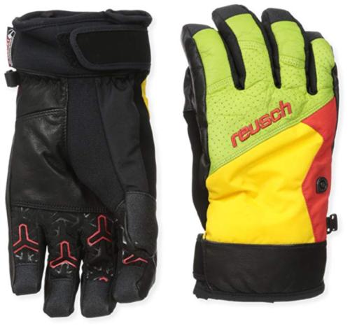 8 (S) Men's Reusch Snowsports One Foot R-Tex XT Gloves Green/Yellow NEW