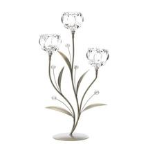 Crystal Flower Triple Candle Holder - £26.84 GBP
