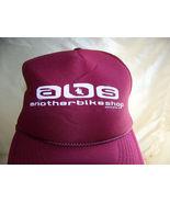 ABS Another Bike Shop Santa Cruz Ca burgundy & white Trucker Hat - $9.99