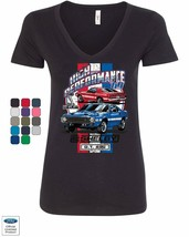 High Performance 1969 Shelby GT500 Women's V-Neck T-Shirt Ford Mustang C... - $11.99+