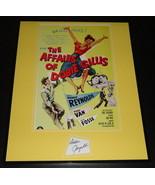 Debbie Reynolds Signed Framed 16x20 Poster Photo Display Affairs of Dobi... - $65.09