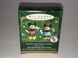 Hallmark 2000 Disney Christmas Ornament - Mickey & Minnie Mouse w/Box - $13.29