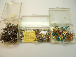 NOS LOT OF VINTAGE TIMEX BATTERY WATCH PARTS AND BUTTONS FOR RESTORATIONS - $114.89