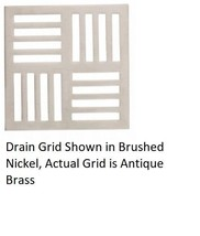 California Faucets 9171-A-AB StyleDrain Neo Shower Drain Grid Only Antique Brass - $108.85