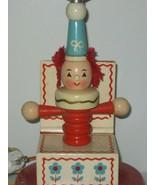Vintage Clown Lamp Jack In The Box Lamp Nursery Lamp  - $23.33