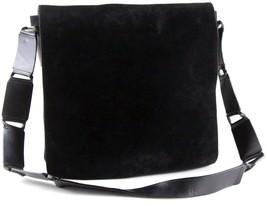 Authentic Gucci Vintage Black Suede Leather Crossbody Shoulder Bag Purse... - £138.82 GBP