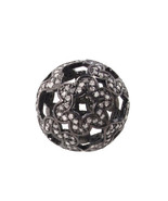 20 mm 925 Sterling Silver Finding Spacer Round Bead 1.50 Ct Pave Diamond... - $280.50