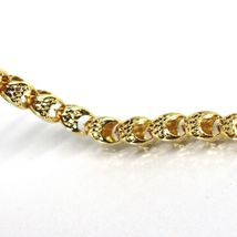 18K YELLOW GOLD BRACELET, BIG ROUNDED DIAMOND CUT OVAL DROPS 6 MM, ROUNDED image 6