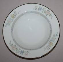 Gorham Cherrywood Rimmed Soup Bowl Fine China Platinum Band - $54.40