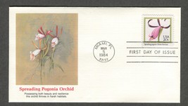 Mar 5 1984 American Orchids – Spreading Pagonia - Fleetwood FDC #2078 - $3.99